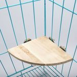 JaggerPet Parrot Bird Cage Perches Round Wooden Coin Stand Platform