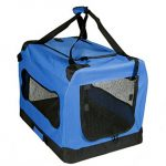 Mr. Peanut's® Deluxe Soft Sided Dog House Style Pet Carrier Crate * Available as 20, 24, 28 & 32″ * Designed for Pet Comfort with Fleece Bedding * Not For Airline Use (Medium 23.6″ x 16.5″ x 16.5″)