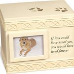 """Pet Urn Memorial """"If Love Could Have Saved You…"""" – Bottom Opening"""