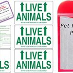 Live Animal Label Set of 5 w/ Pet Passport Pouch RED
