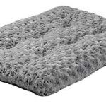 Plush Pet Bed , Ombré Swirl Dog Bed & Cat Bed , Gray 23L x 18W x 1.75H -Inches for Small Dog Breeds