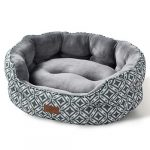Bedsure 20 inch Small Dog Bed & Cat Bed, Round Pet Beds for Indoor Cats or Small Dogs, Round Machine Washable Super Soft & Plush Flannel Pet Supplies, Slip-Resistant Oxford Bottom,Coin Print Grey…