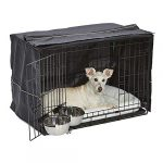 iCrate Dog Crate Starter Kit | 30-Inch Dog Crate Kit Ideal for Medium Dog Breeds (weighing 26 - 40 Pounds) || Includes Dog Crate, Pet Bed, 2 Dog Bowls & Dog Crate Cover